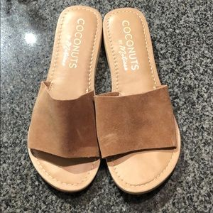 Coconuts by Matisse Cabana slides in tan